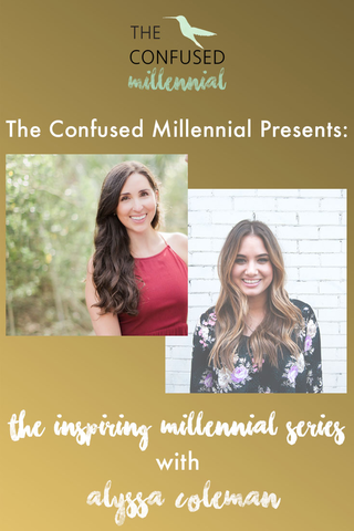 "Alyssa Coleman is a holistic nutritionist and yoga teacher. Alyssa shares her experience with school and starting a business in this weeks episode of ""Inspiring Millennials"". Alyssa discusses what its like to start a business on-line as well as how to overcome common mistakes when launching a business. - The Confused Millennial with Rachel Ritlop"