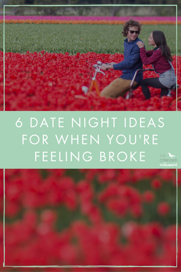 Does the idea of Netflix, yoga pants/basketball shorts, and delivery sound all too familiar and awesome at the same time for date night? If anyone knows how to keep things interesting, while also staying on budget, it's us. Keeping your relationship sparkly when you're broke might take a little more effort but there are plenty of creative ways to make it happen and make it fun.