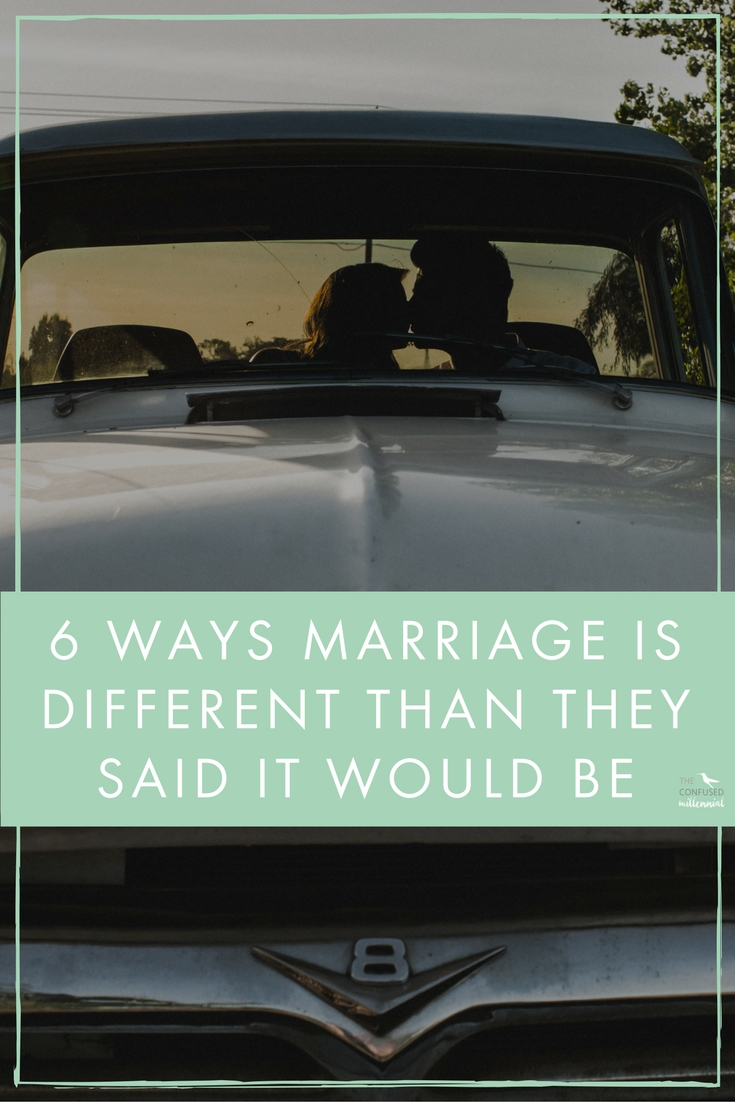 """When you've been with someone a while, people like to give you advice and forewarn you about the """"realities""""of married life. Tidbits about how to handle finances, how to navigate serious aruments and how to plan for the future, but at the same time,it's incredibly misleading. I can think of 6 things people told be about marriage that didn't turn out to be true... - The confused millennial"""