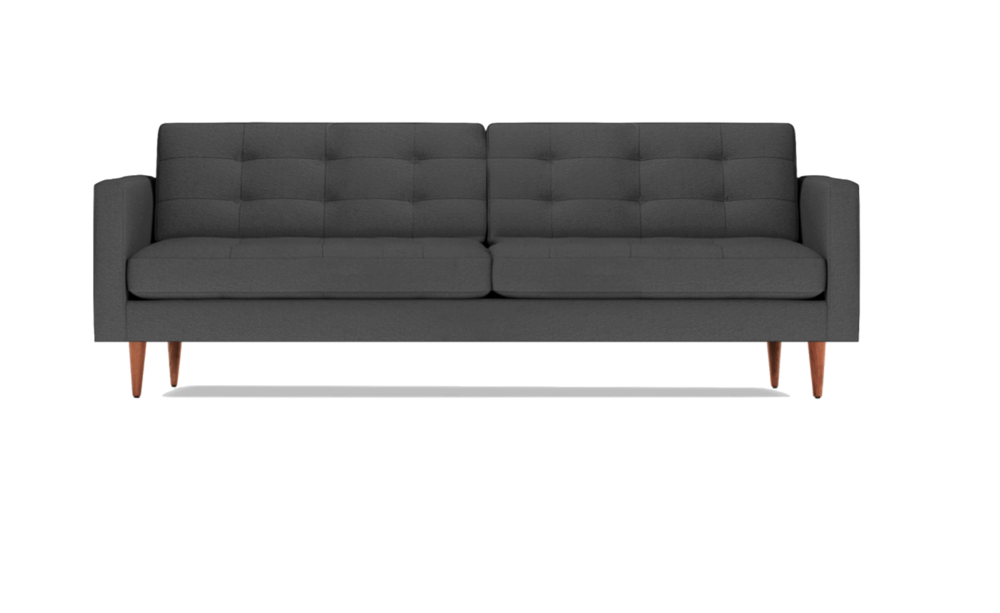 Lovely Petrie Sofa In Charcoal