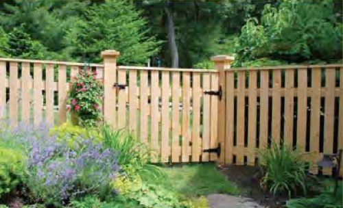 Natural Cedar Picket Fencing