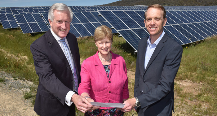 In 2015 I became a patron of the Australian Solar Council together with former federal Liberal leader John Hewson and ACT deputy chief minister Simon Corbell. Photo: Mark Graham