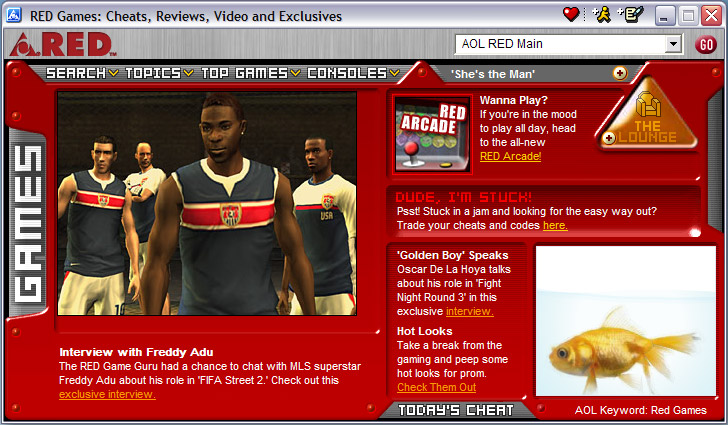 RED Games Feature (AOL Teens)