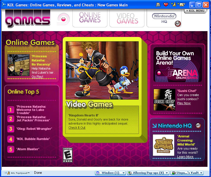 KOL Games (AOL Kids)