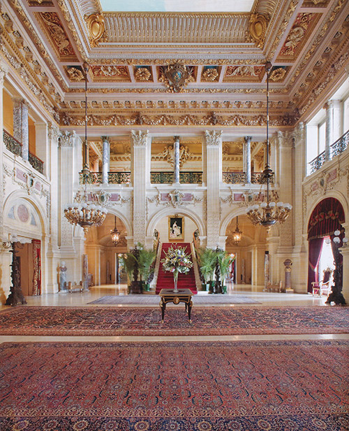 Great Hall of The Breakers Mansion   Cover Art of    The Newport Mansions