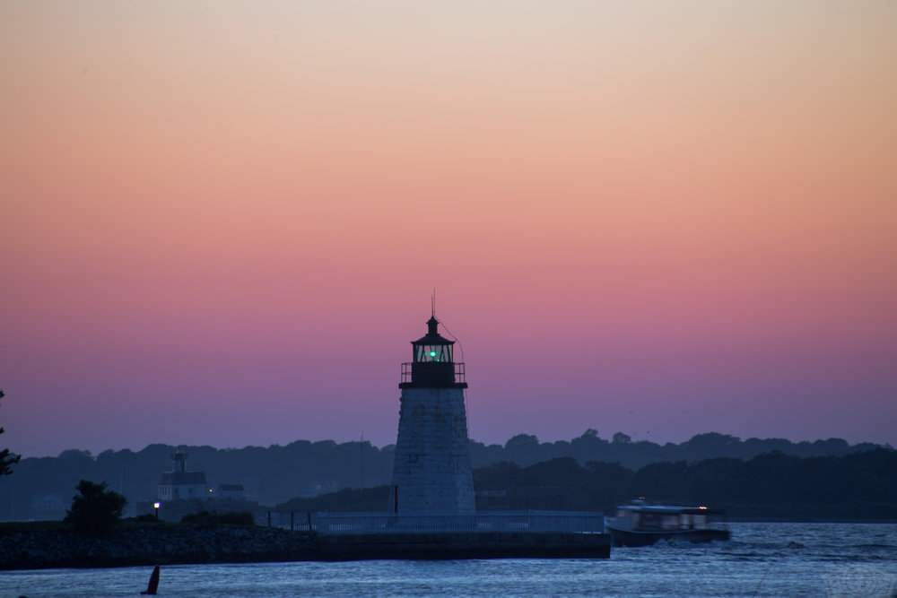 Goat Island and Rose Island Lighthouses (Newport, RI)