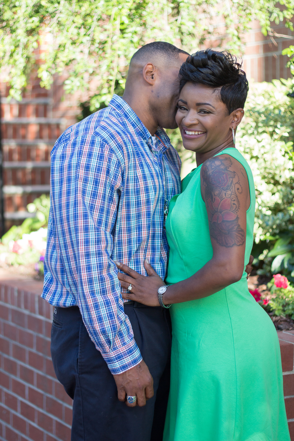 downtown norfolk engagement session