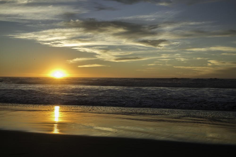 Surf Beach Sunset
