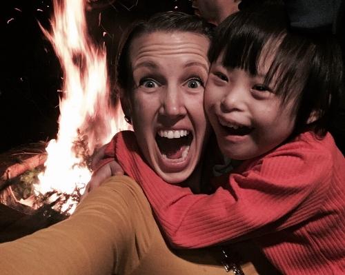 Bonfire with Joy
