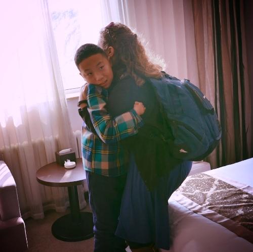 D.J.'s First Hug