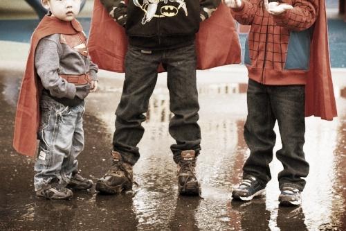 Superheroes in the Rain