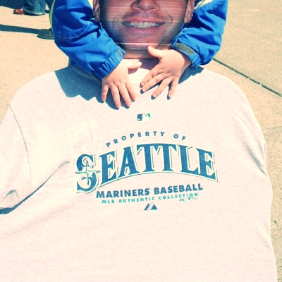 Flat Daddy at the Mariners Game