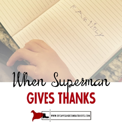 When Superman Gives Thanks