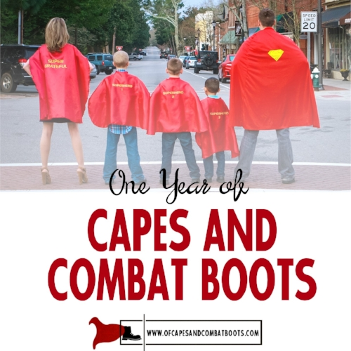 One Year of Capes and Combat Boots