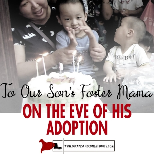 To Our Son's Foster Mama