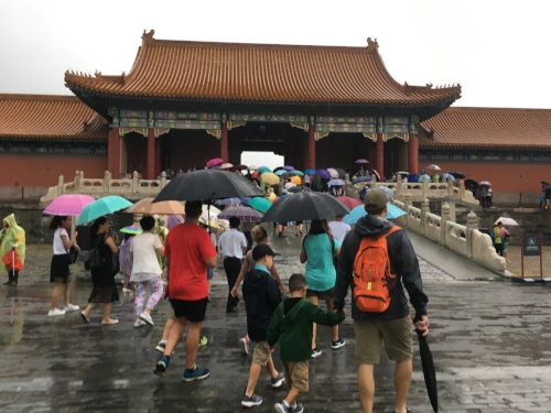 Forbidden City in the Rain