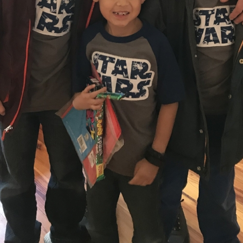 This year for Gotcha Day, Superman chose to see Star Wars (his current obsession) with his two older brothers and his daddy.