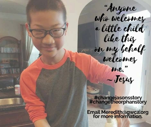 Jason's advocacy post from his time as a host child in December 2016