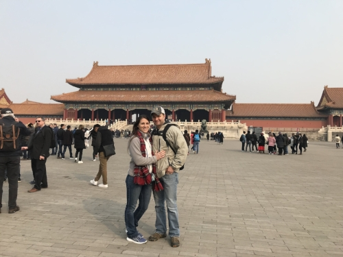 Liz and Hunter at Forbidden City