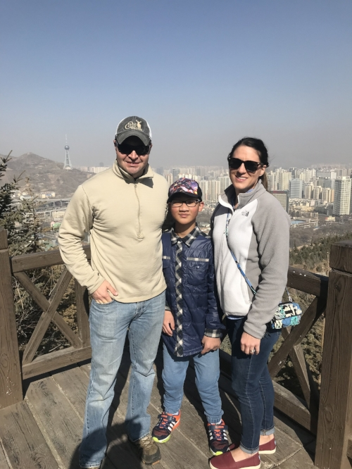 The family (and Stone's shadow) in Xining. Remember that all of this and more has been built in the last 15 years.