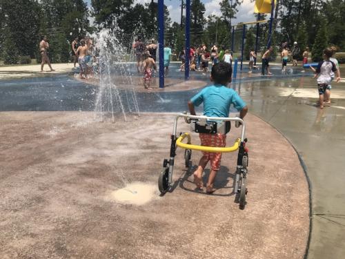 Splash Pad, Walker Style