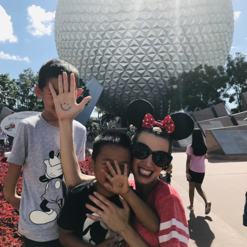 Celebrating World Adoption Day 2018 in Epcot with our orphans-no-more