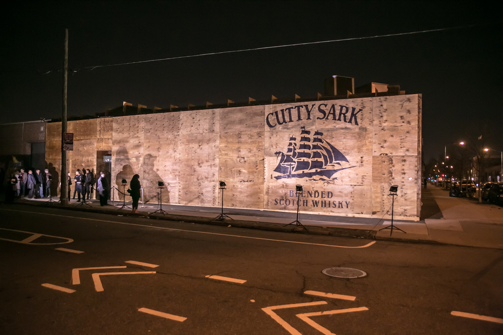 Cutty Cargo    US launch of Cutty Sark Prohibition Edition with a warehouse party. Transforming the Brooklyn Night Bazaar into a den of creativity, this party celebrates eclectic talents like musician Dev Hynes, photographer Tod Seelie, boxing coach Chris Algieri, dancers from Lady Circus, and pizza virtuosos at Roberta's.     Agency partners: Ammirati, Exposure, MKG.