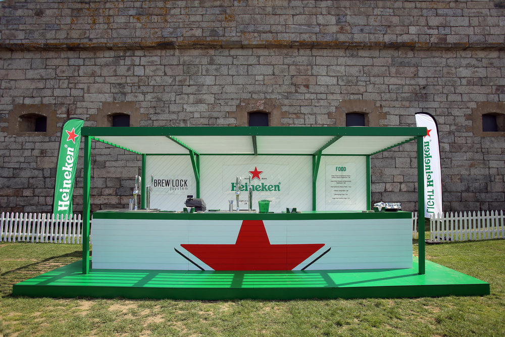 Heineken Volvo Ocean Race    Heineken has a strong sponsorship showing at the Newport, RI stopover at the world-spanning Volvo Ocean Race. A celebration of Heineken's global reach with themed cabanas influenced by each of the Ocean Race stopover cities. The outdoor bar features the proprietary Brew Lock draft system.    Agency partner: MKG