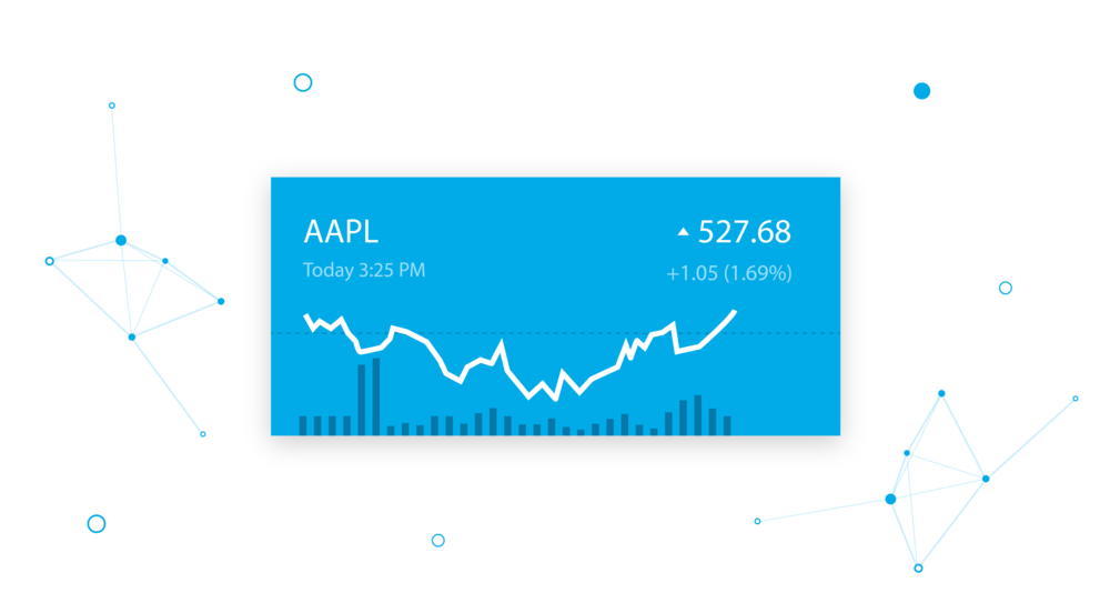 Stock Trends Illustration