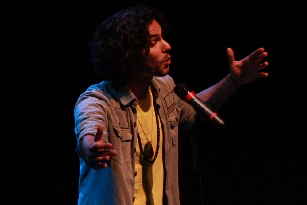 Luka Lesson , 2011 Australian Poetry Slam Champion, performing at the National Final.