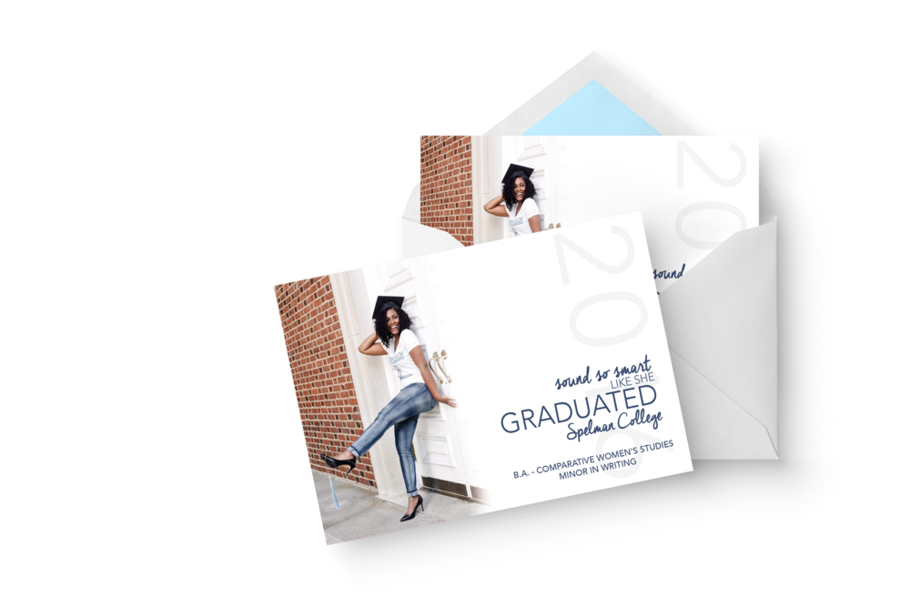 COMMEMORATE #GRADSZN WITH GRADUATION ANNOUNCEMENTS THAT ARE AS UNIQUE AS YOU ARE - $100 - THROUGH JUNE 1 *printing and shipping fees may apply*