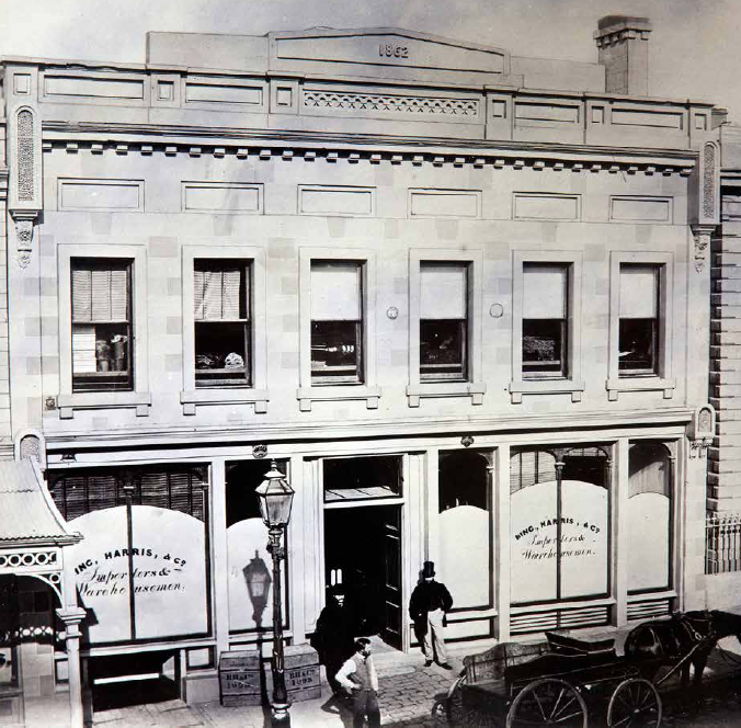 First Bing, Harris, & Co building on High St