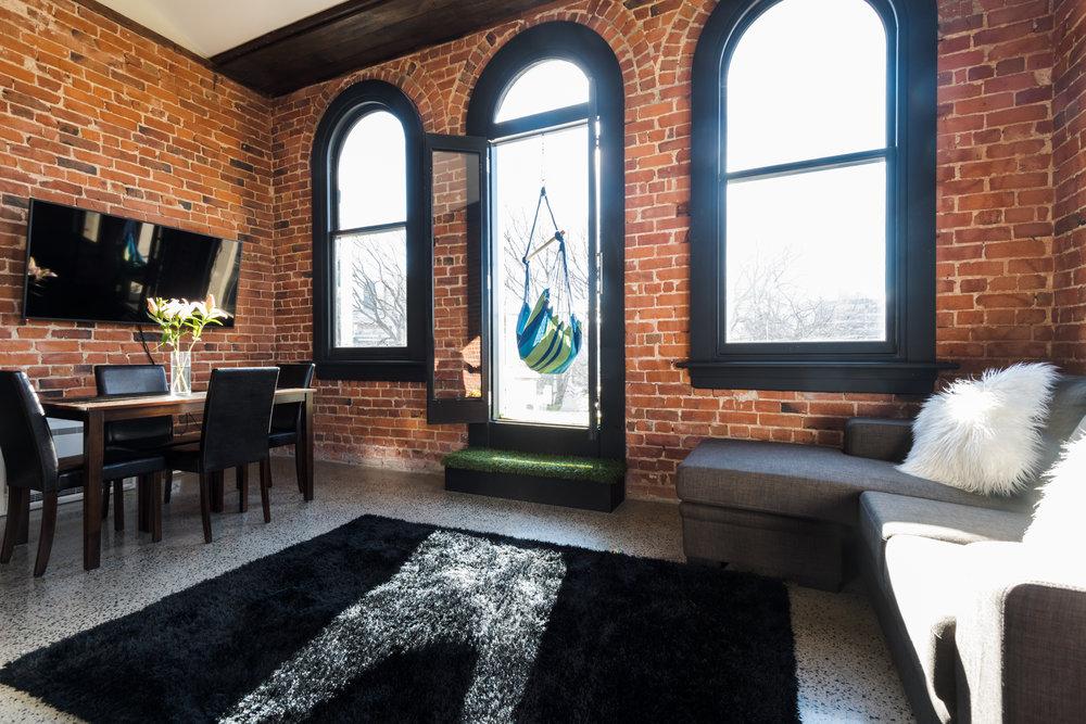 The Terminus Apartment 8 Living Area