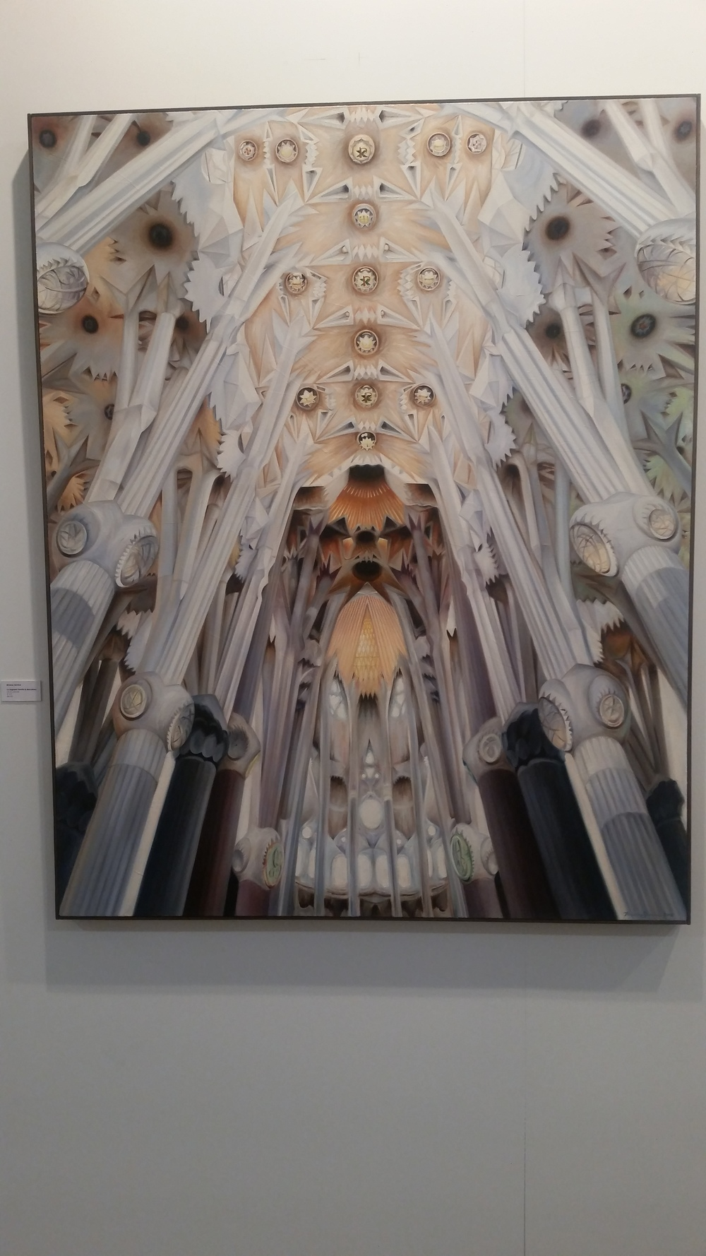 La Sagrada Familia in Barcelona. Oil on canvas by Brianne Service