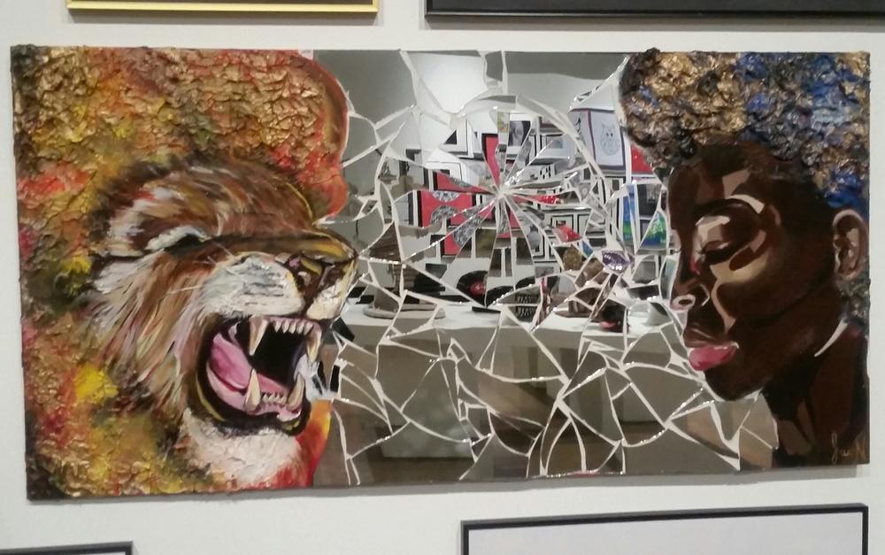 Inner Battle: Lion vs Girl by Jasmin Amoako (WCI, Grade 11)