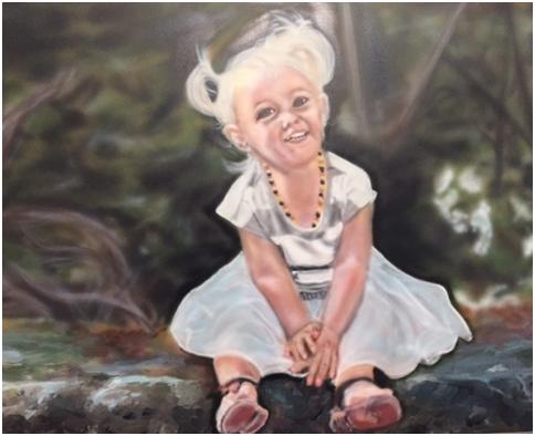 Airbrush painting 18 x 24