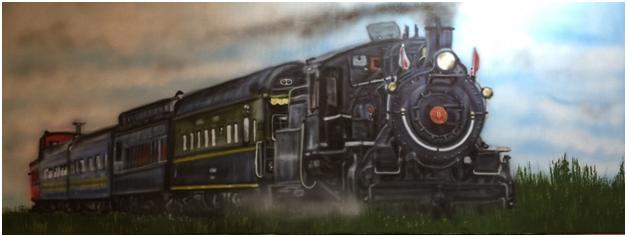 Airbrush painting 20 x 36