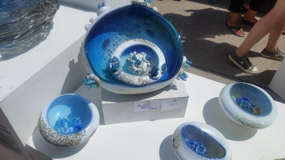 Glass art by Mariel Waddell