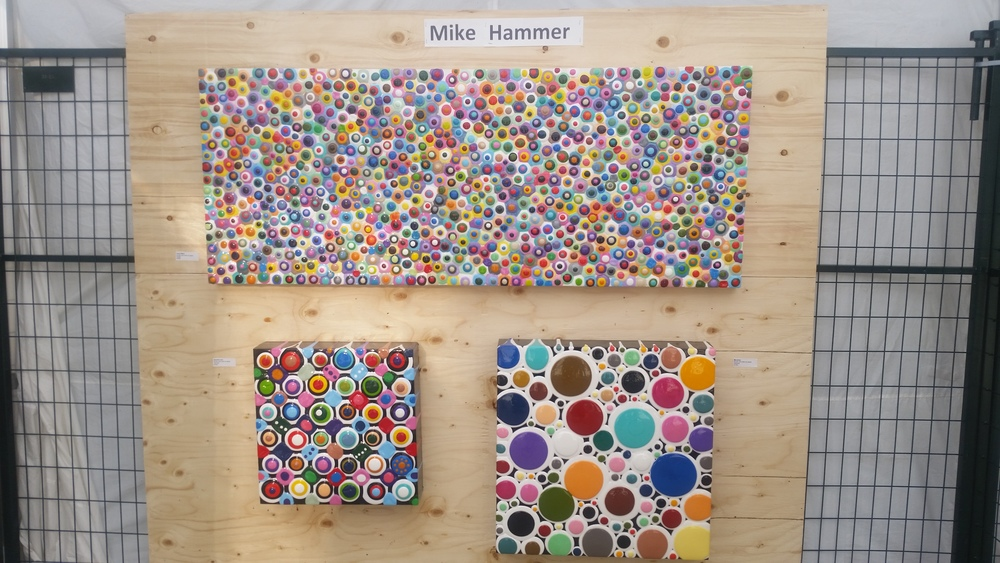 Cheerful work by Mike Hammer, acrylic and resin