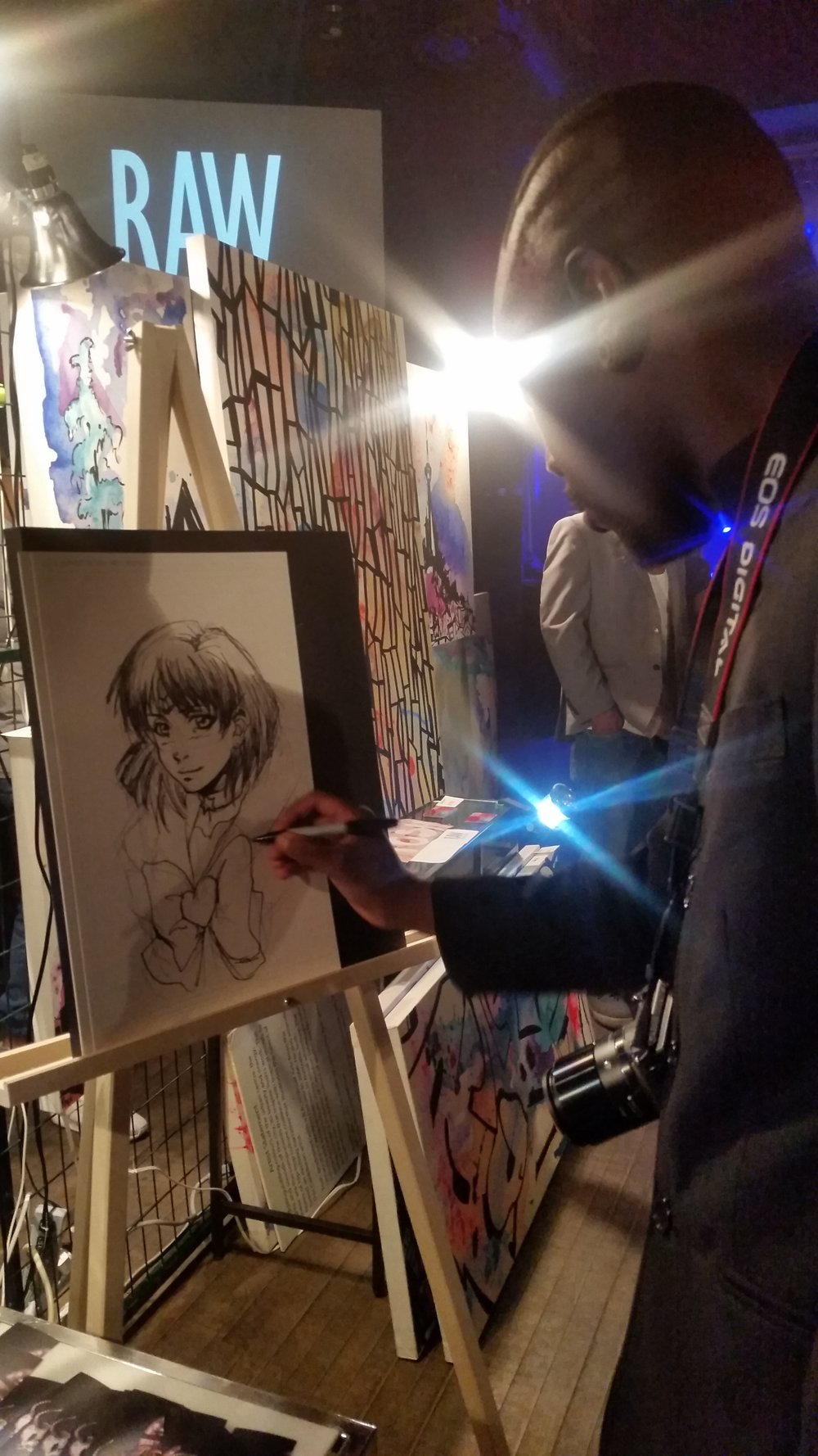 Strike Boogie The Artist working on art during the show. I always enjoy watching something being created from nothing.