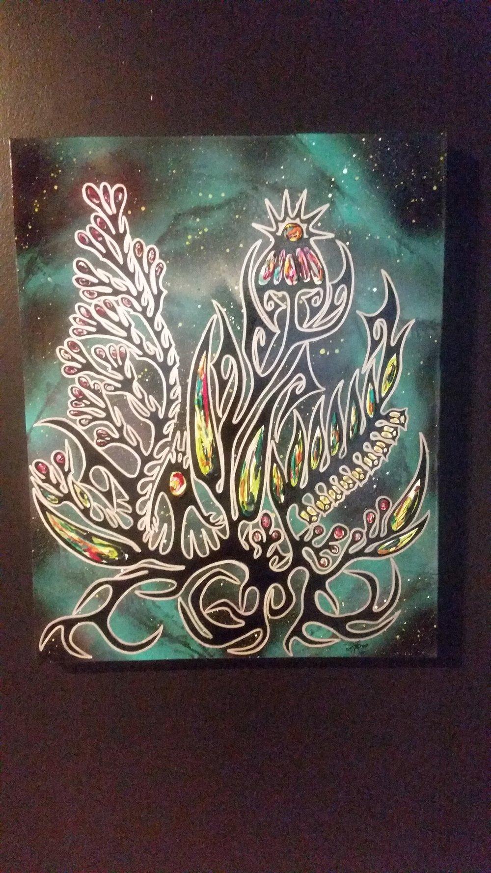 """Purple Coneflower, Solomon's Seal & Wild Rose"" by Nyle Miigizi Johnston"