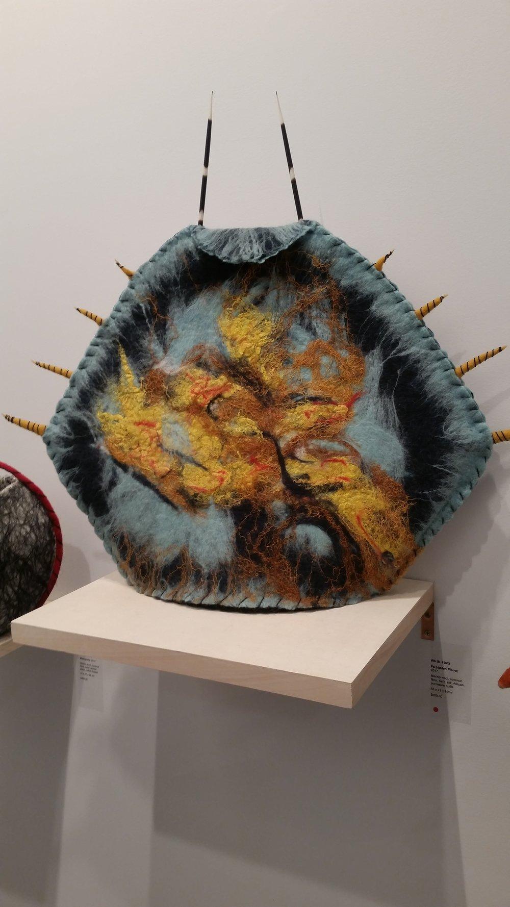 """""""Forbidden Planet"""" felt sculpture by WA"""