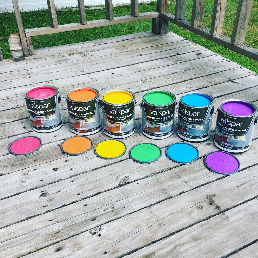 A vibrant palette.