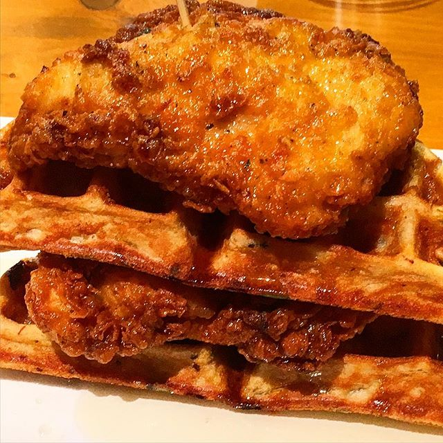 Truly enjoyed the Chicken and Waffles at the TR Fire Grill and Lounge in Winter Park #theorlandotravelguide #foodie #orlando #winterpark #restaurant #chickenandwaffles
