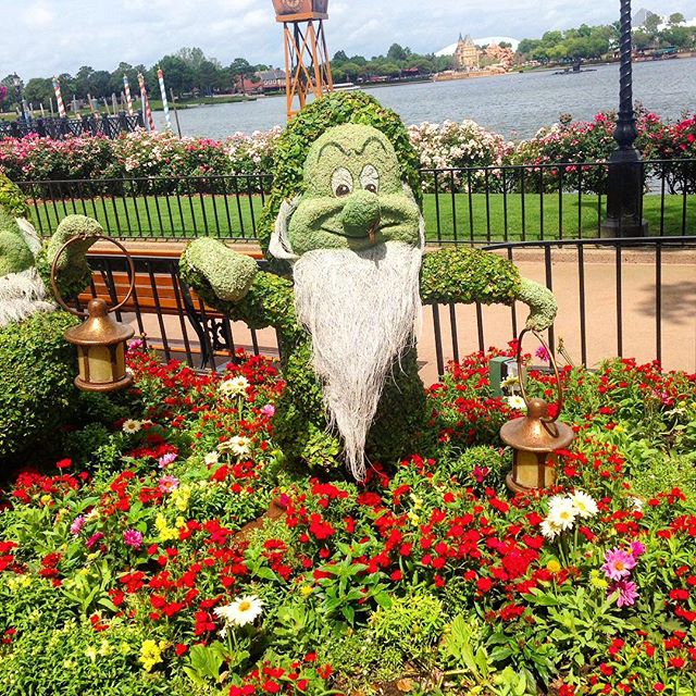 Once again it's time for The Epcot Flower and Garden Festival now thru May 30th! #theorlandotravelguide #thingstodo #instadaily #instagood #travel #fun #family #garden #disney #waltdisneyworld #epcot #epcotflowerandgardenfestival #wdw