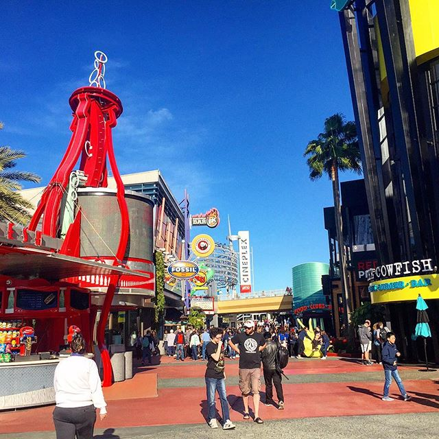 Universal City Walk a great place to hang out! #amusementparks #travel #holiday #fun #family #fun #orlando #theorlandotravelguide #universalstudios #universalcitywalk #thingstodo