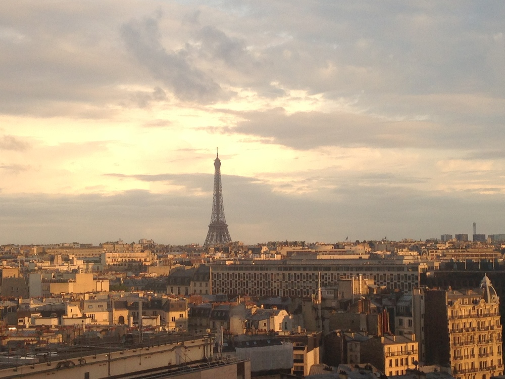 The view from our hotel room in Paris.  it was a great hotel room!