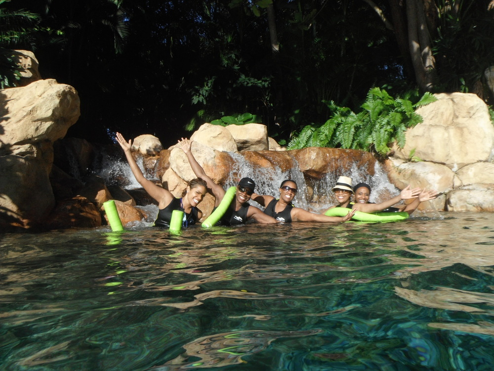Ladies at Discovery Cove