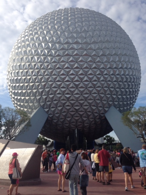 Front entrance at Epcot