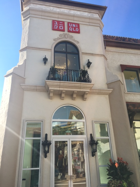 Entrance to the Uniqlo store at Disney Springs
